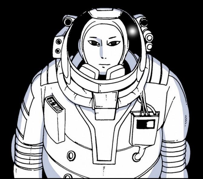 지구 멸망 후 달에 혼자 남은 우주인 그린 조석 작가의 새 웹툰 '문유'. - 네이버 제공